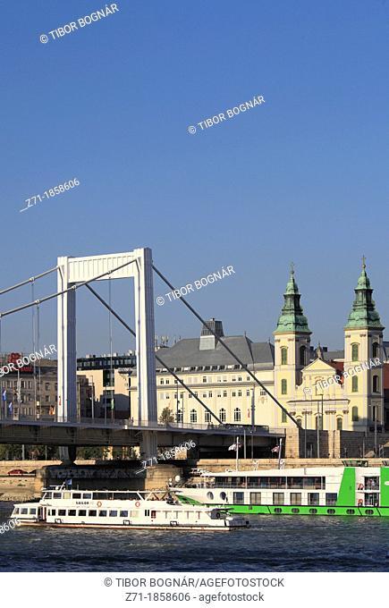 Hungary, Budapest, Elisabeth Bridge, Inner Town Parish Church, Danube River