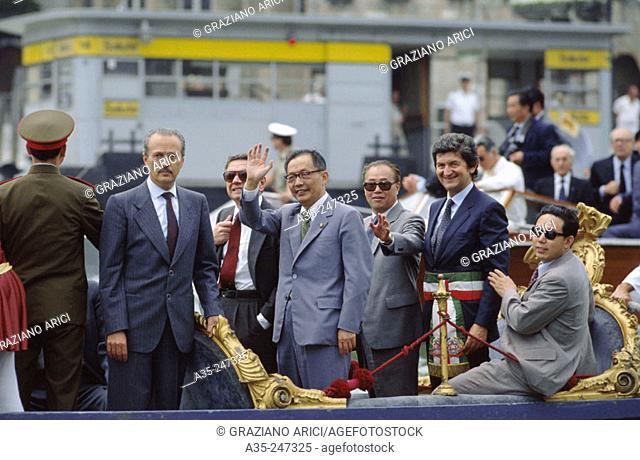 Zhao Ziyang and Mario Rigo, Mayor of Venice