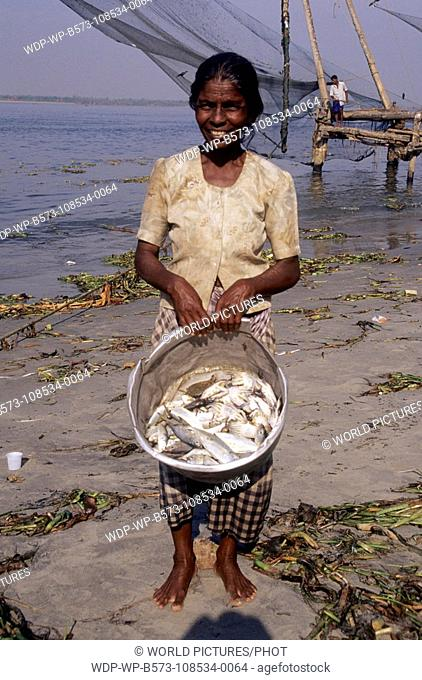 South India, Kerala Kochin Fish Market Date: 12/12/2007 Ref: WP-B573-108534-0064 COMPULSORY CREDIT: World Pictures/Photoshot