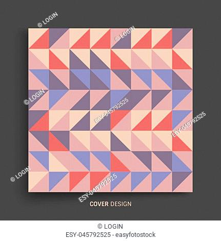 Cover design template for advertising. Abstract colorful geometric design. Pattern can be used as a template for brochure, annual report, magazine, poster