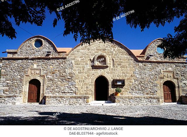 Kimisis tis Theotokou church, dedicated to the Ascension of Mary, 1060, Asklipio, Rhodes island. Greece, 11th century