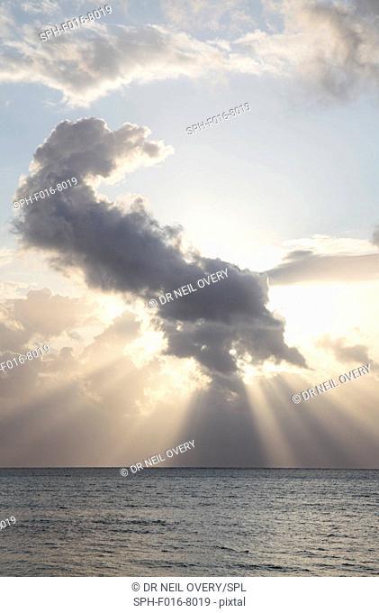 Dawn clouds over Indian Ocean, Jambiani, Zanzibar, Tanzania
