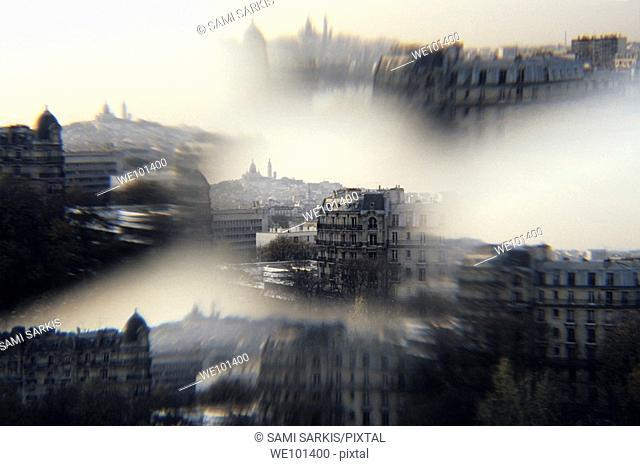 The Sacre-Coeur Basilica on Montmartre hill, Paris, France