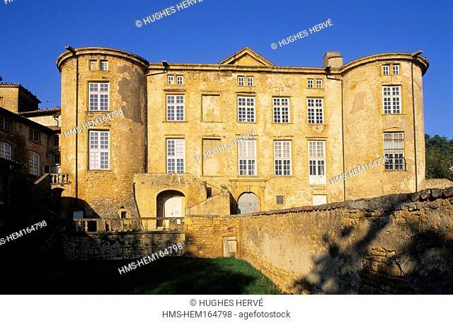 France, Rhone, Beaujolais region, Pierres Dorees region,ize, Rochebonne castle