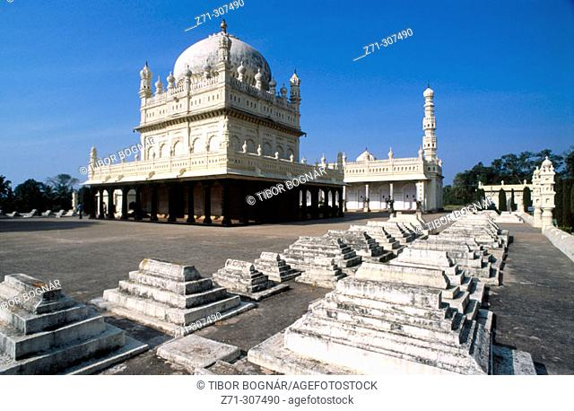 Gumbaz, the mausoleum of Tipu & Hyder Ali. Srirangapatnam. Karnataka State. India