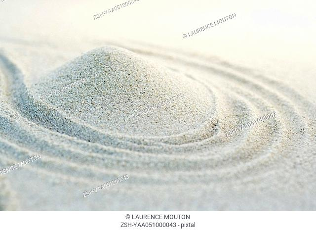 Mound of sand, close-up