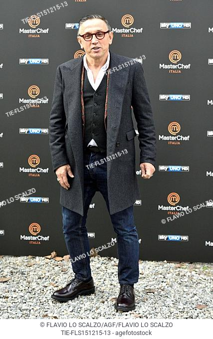 The Chef Bruno Barbieri during the photo call of the fifth edition of tv programme Masterchef Italy, Milan, ITALY-15-12-2015