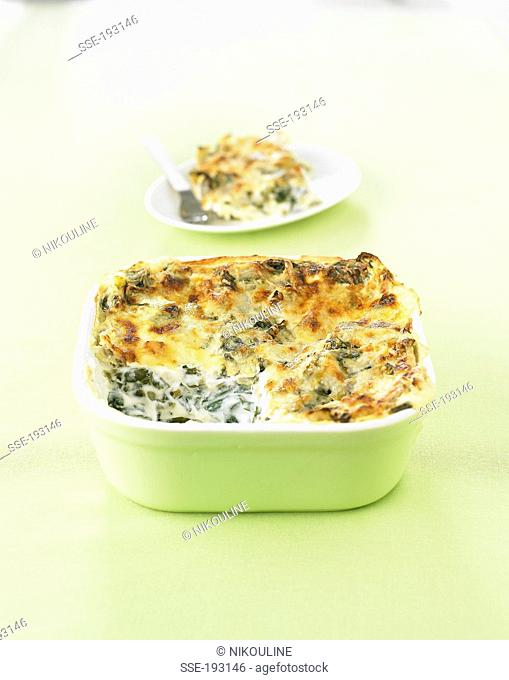 Swiss chard and ricotta lasagnes