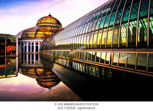 Marjorie McNeely Conservatory at Como Park in St  Paul, Minnesota was first opened in 1915