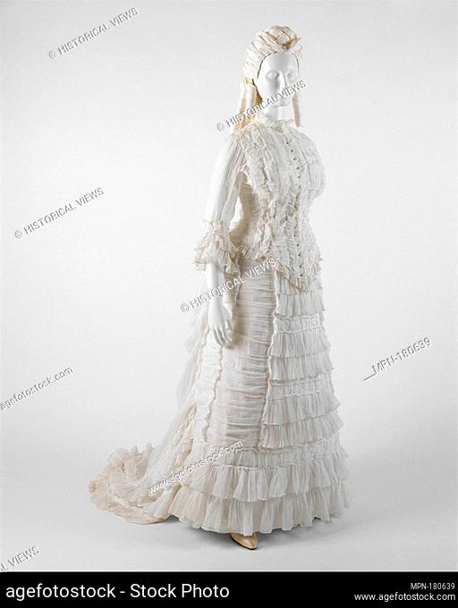 Dress. Date: ca. 1880; Culture: probably American; Medium: cotton; Credit Line: Purchase, Irene Lewisohn Trust Gift, 1993 / While among the most prized pieces...
