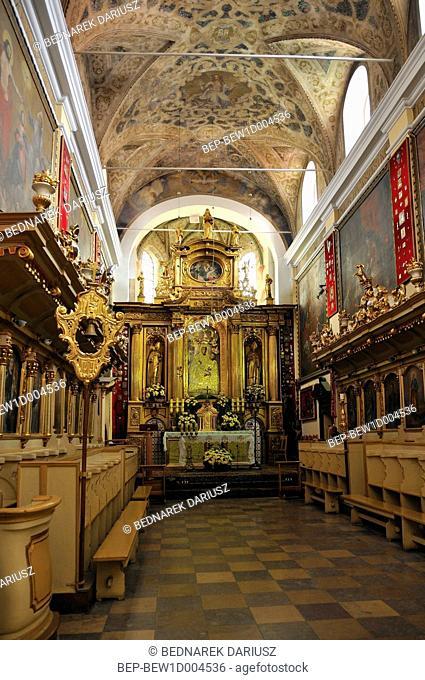 Interior of Basilica of Our Lady of Consolation in Czerwinsk over Vistula, Masovian Voivodeship, Poland