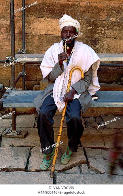 Priest of Yeha church, Yeha, Tigray region, Ethiopia