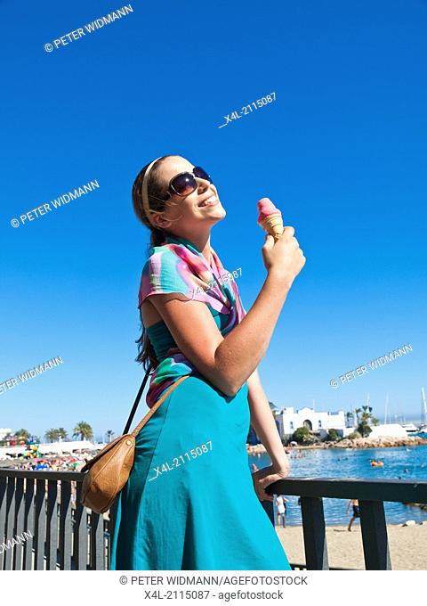 young, pretty woman on summer holiday (model-released)