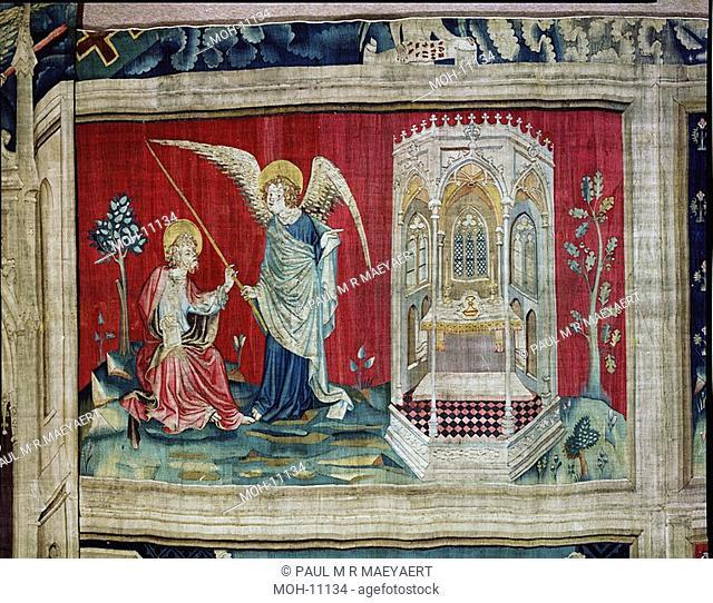 La Tenture de l'Apocalypse d'Angers, La mesure du temple 1,53 x 2,47m, die Vermessung des Tempels