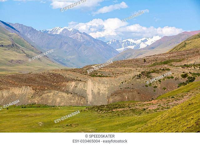 Tien Shan mountain range. Kyrgyzstan