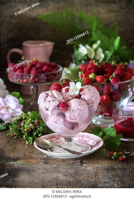 Berry ice cream