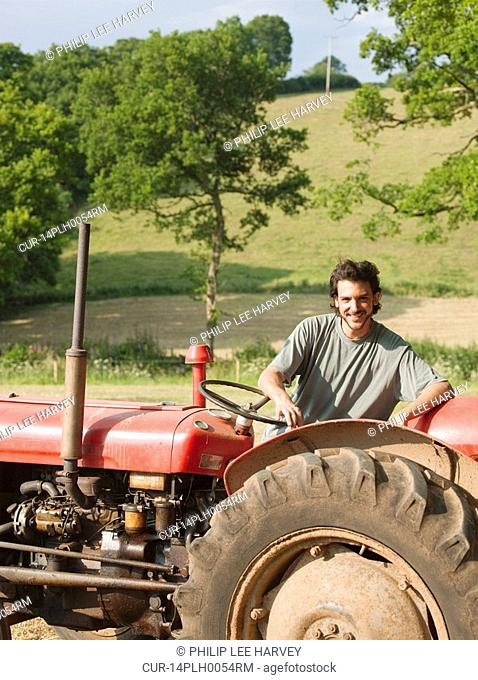 man with tractor