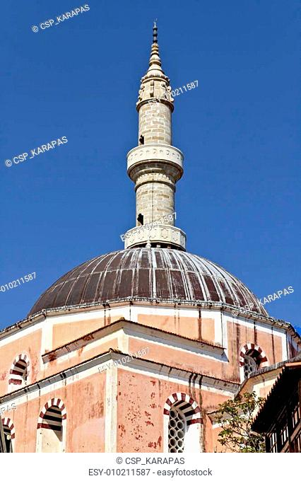 Mosque of Suleimaniye at Rhodes island, Greece