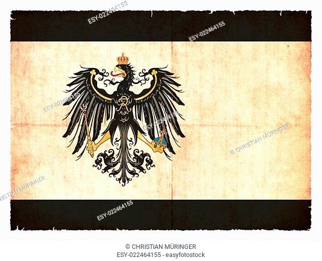 Grunge-Flagge Preussen (historisch, 1892-1918)