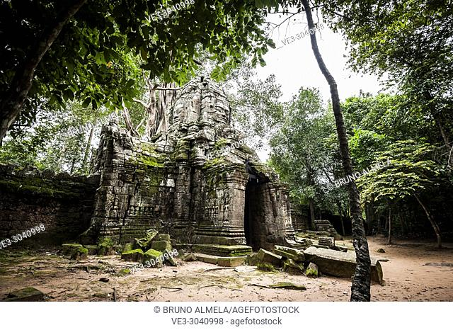 East gate of Ta som Temple in Angkor compound (Siem Reap Province, Cambodia)