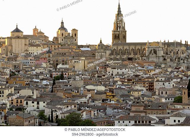 View at nightfall of Toledo city, Spain