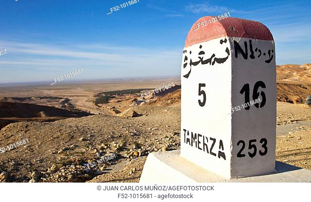 Desert of Southern Tunisia. Tunez. Africa