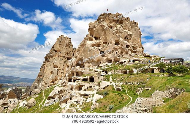 Turkey - Cappadocia, Uchisar Castle, stone formations, Unesco