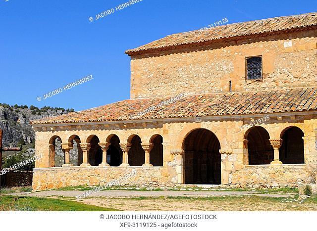 Romanesque church of San Miguel Arcángel. Andaluz. Soria province. Castilla y Leon. Spain