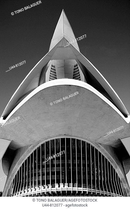 Arts and sciences city  Santiago Calatrava, Valencia