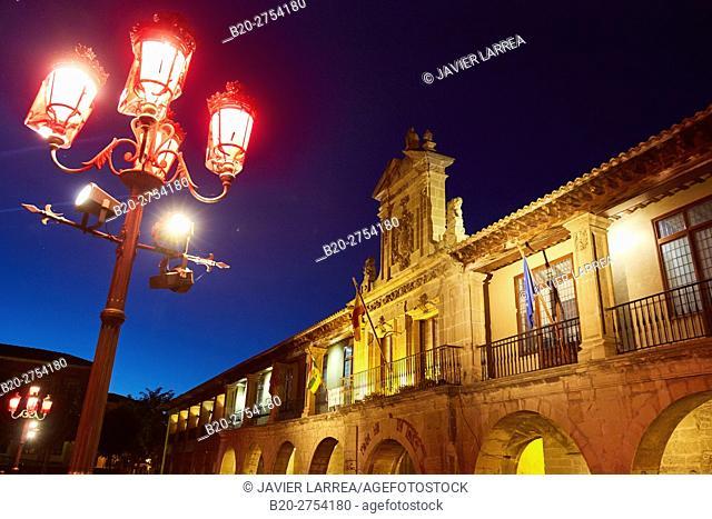 City Hall, Plaza de España Square, Santo Domingo de La Calzada, Way of Saint James, La Rioja, Spain, Europe