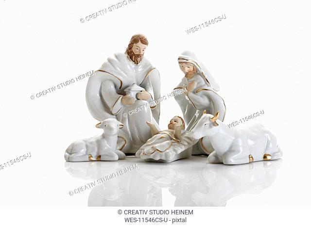 Christmas decoration, nativity scene, crib figurines