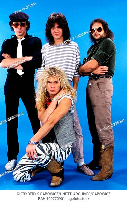 """""""""""Van Halen"""", amerikanische Hardrock Band, beim Promoshoot in Deutschland, 1981. American hard rock band """"Van Halen"""" during a promotional photo shooting..."