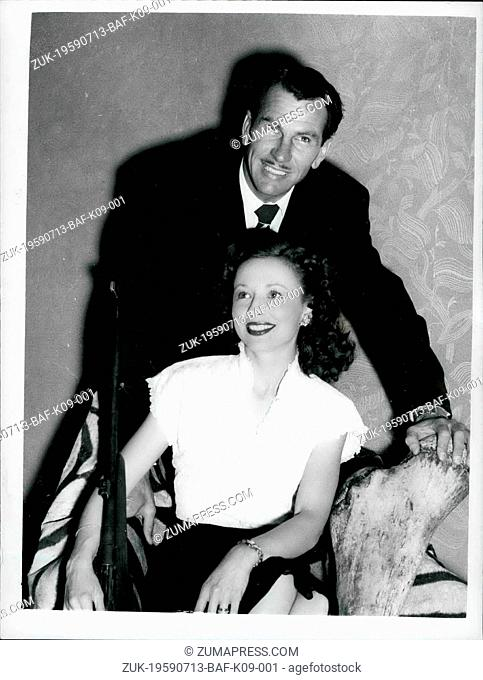 Jul. 13, 1959 - 13-7-59 Ann Cornell Calvert to fly to rescued husband. Yacht in difficulties off coast of Australia - It was learned yesterday that Ann Cornell...