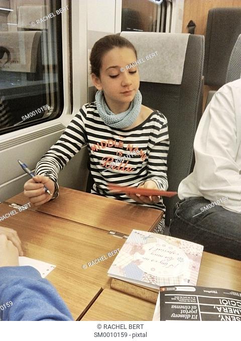 Passenger on the train