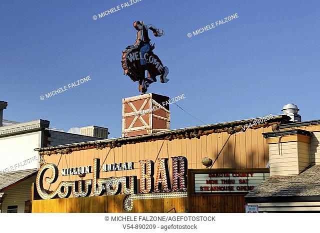 Historic Cowboy Bar, Town Square, Jackson Hole, Wyoming, USA