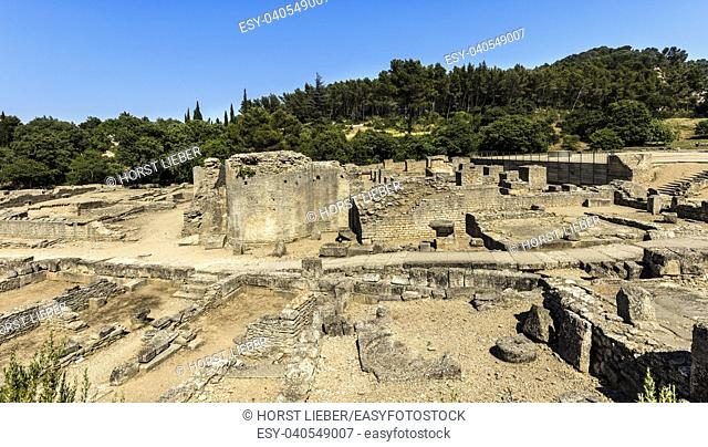 Archaeological site. Glanum. Saint Remy de Provence, Bouches du Rhone, Provence, France