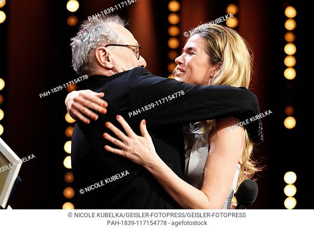 Dieter Kosslick and Anke Engelke during the closing ceremony at the 69th Berlin International Film Festival / Berlinale 2019 at Berlinale Palace on February 16
