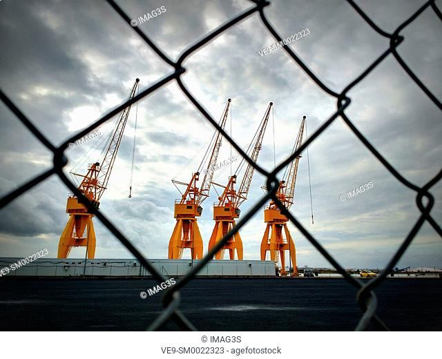 Cranes, Port of Huelva, Spain