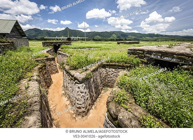 Bunkers and trenchs in Khe Sanh combat base (DMZ, Quan Tri province, Vietnam)