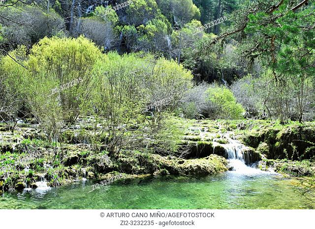 The River Cuervo Natural Monument. Serrania de Cuenca Natural Park. Cuenca Province, Spain
