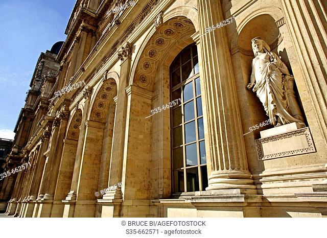 Sully Wing of Musee du Louvre. Paris. France