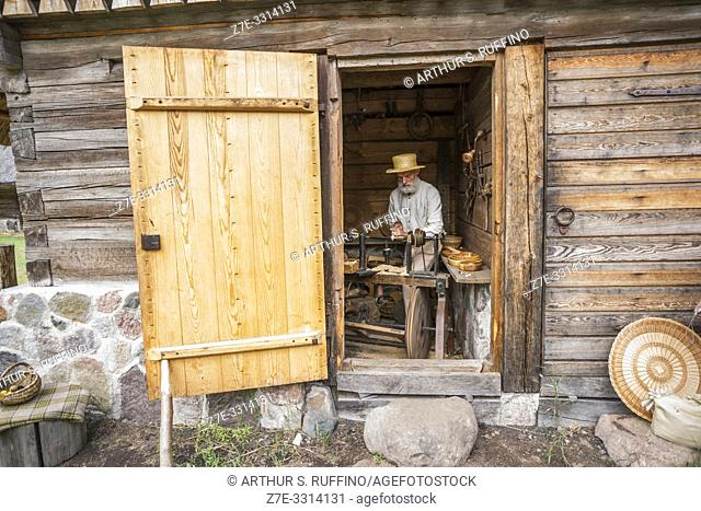 Traditional crafts. Latvian Ethnographic Open-Air Museum. Riga, Latvia, Baltic States, Europe