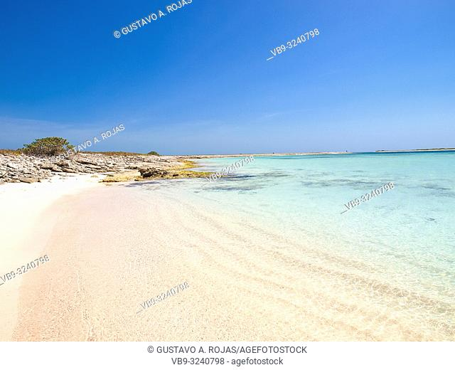 Tropical beach of island noronqui, Los Roques, Venezuela