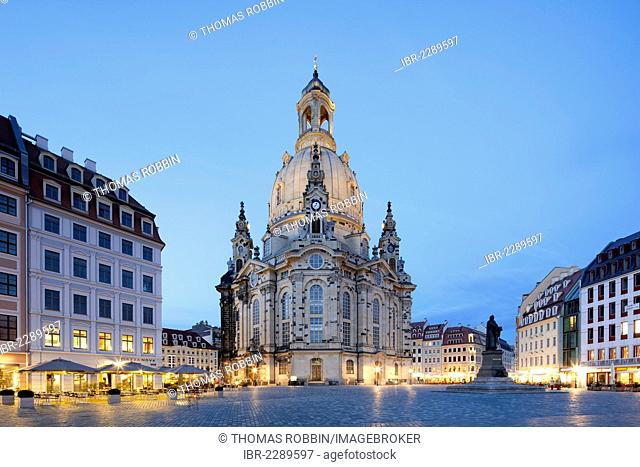 Frauenkirche, Church of Our Lady, reconstruction, historic town centre, Dresden, Saxony, Germany, Europe, PublicGround