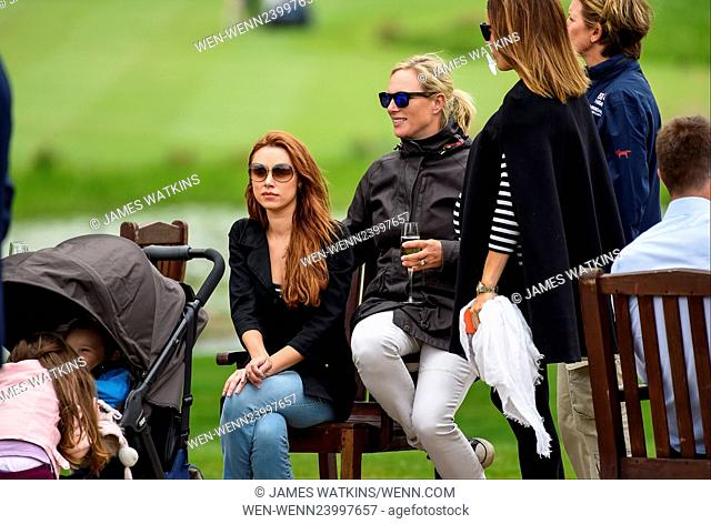Una Foden supports her husband Ben at the Mike Tindall Charity golf day at the Belfry Featuring: Zara Tindall, Zara Phillips, Una Foden Where: Sutton Coldfield