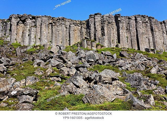 Basalt columns at Gerduberg, Snaefellsnes Peninsula, Iceland