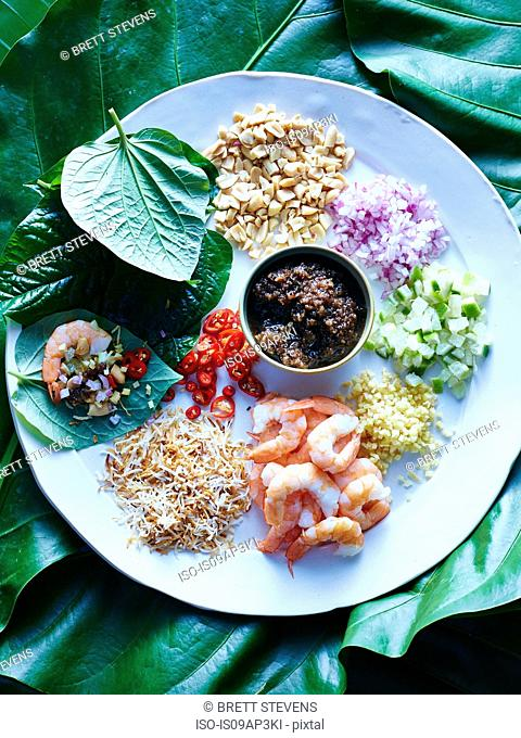 Still life with Thai miang kham