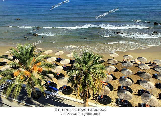 Beach of Georgioupoli on the north part of Crete, Greece