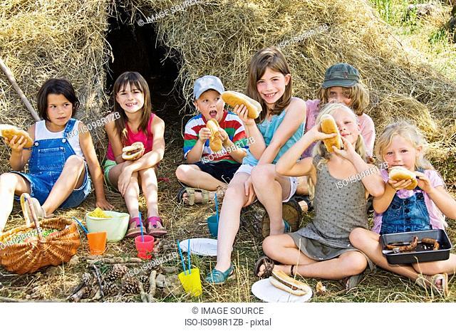 Children having picnic
