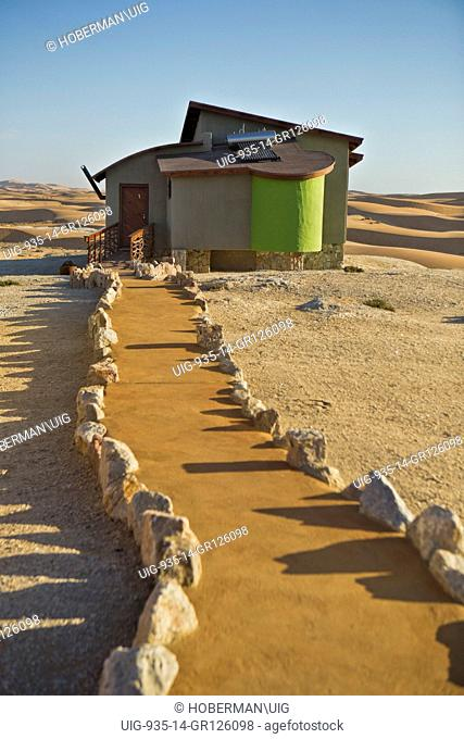 Luxury Accommodation Bungalows at Desert Breeze in Namibia with Landscapes of Desert and Dunes